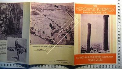 EFEMERA-İzmirVIII. Bergama Kermesi 1944 Katlanır Program Broşürü