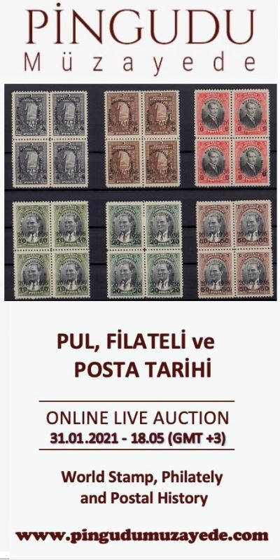 Online Live Auction / World Stamps, Postal History and Philately / 31 January, Sunday - 18:05 (Gmt +3)